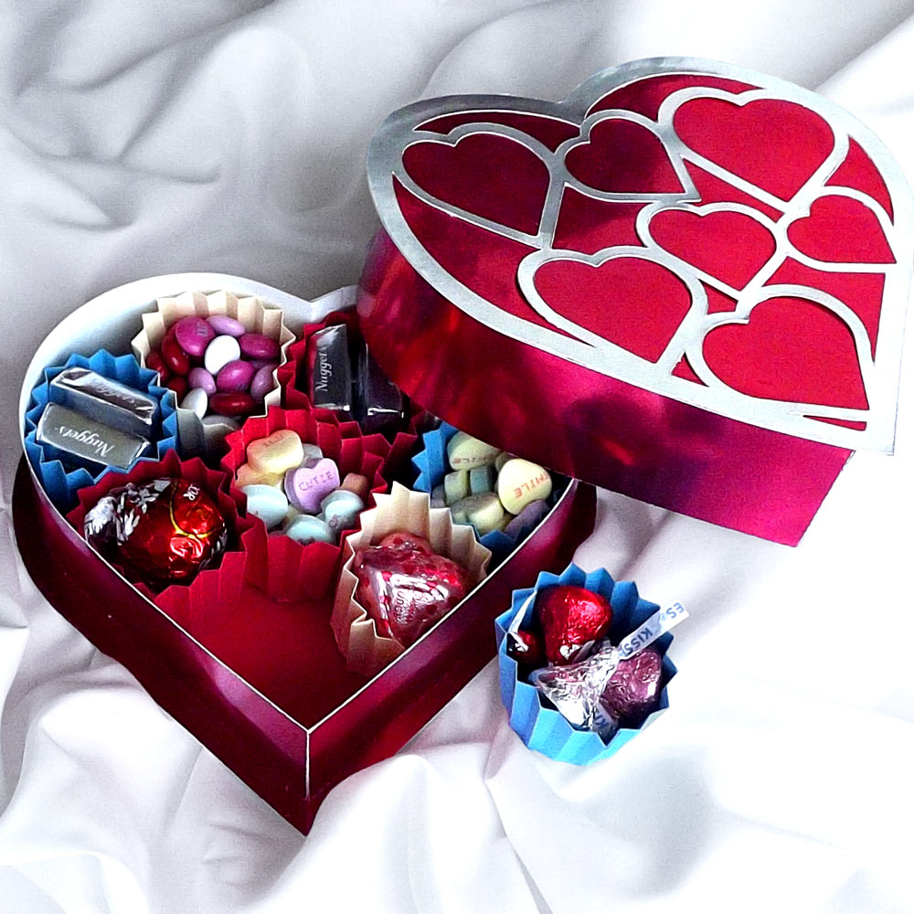 Heart shaped box and candy cups pazzles craft room for Room in your heart living in a box