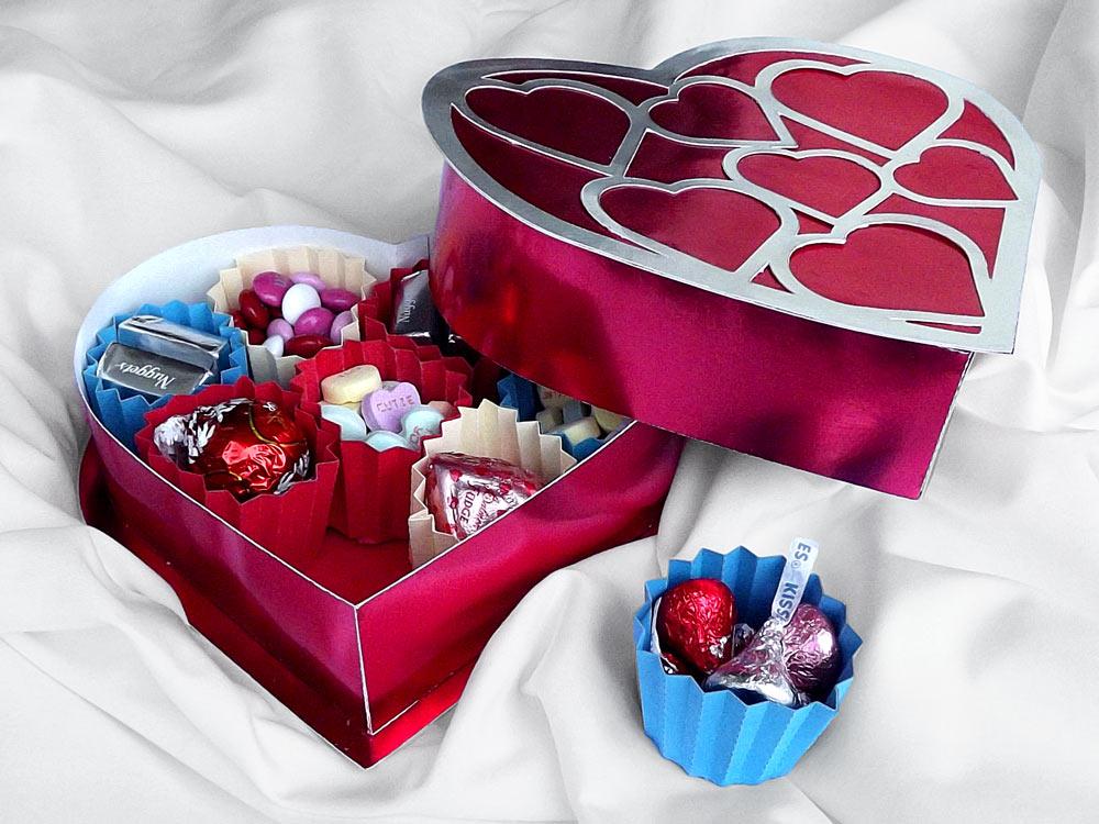 Heart Candy Box Cutting Files