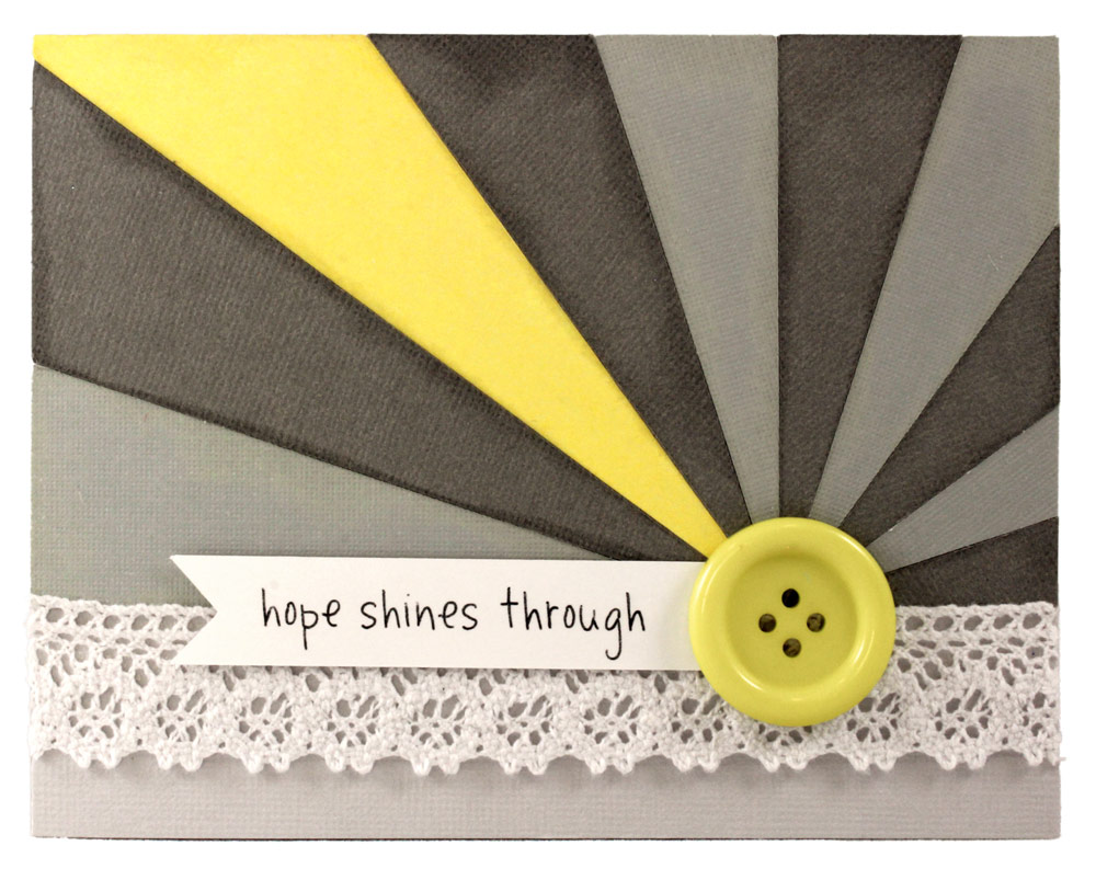 Hope Shines Through Sun Rays Sunburst Card