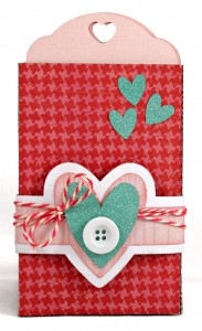 I Love You Tag Pocket Card with Belly Band