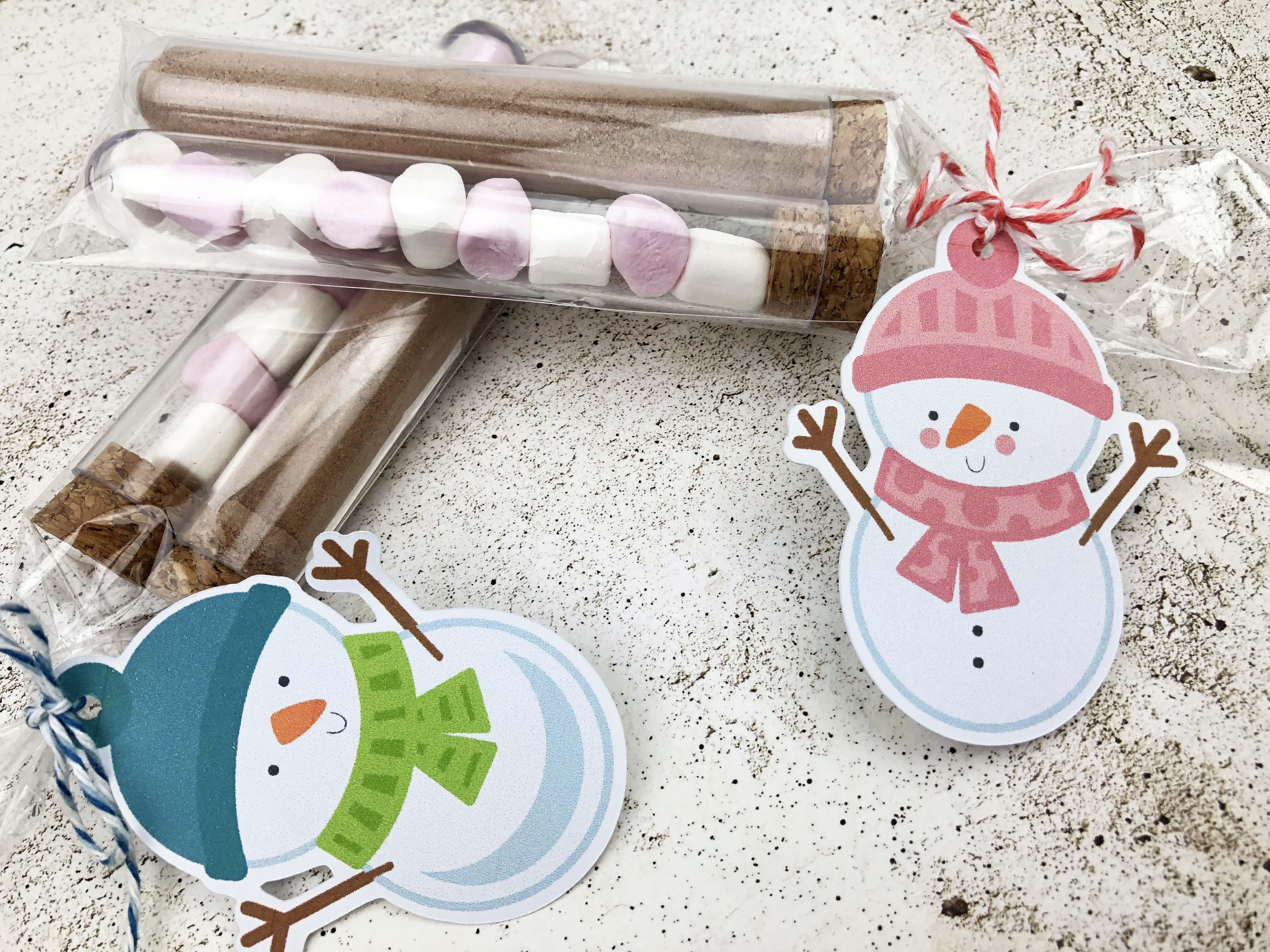 Snowman Test Tubes