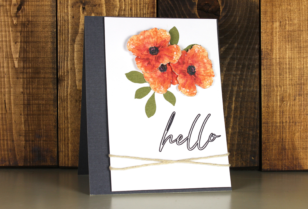Hello Poppy Card