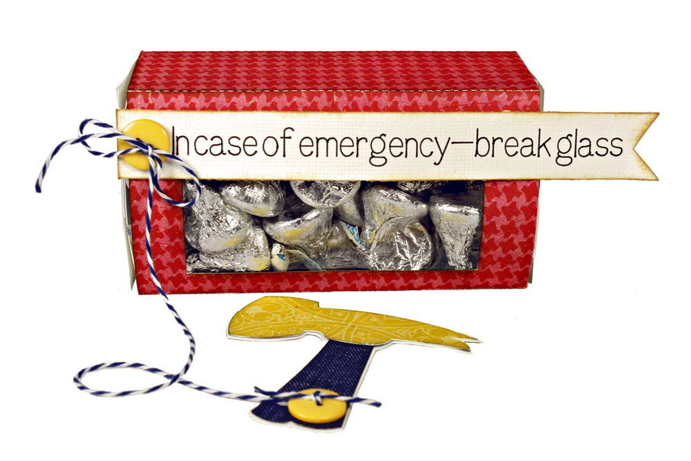 In Case Of Emergency Break Glass Candy Box with Hammer