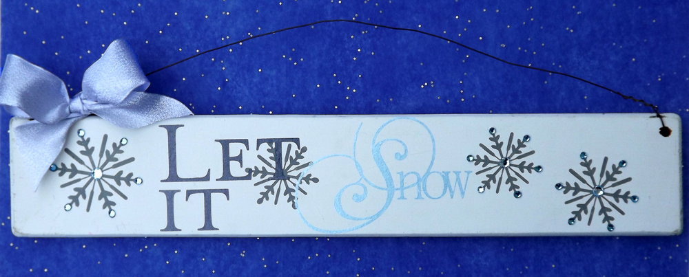 Let It Snow Painted Sign