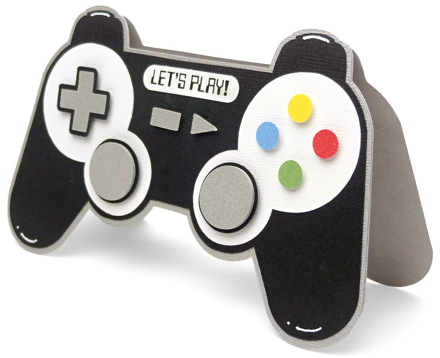 Game Controller Shaped Card - Pazzles Craft Room
