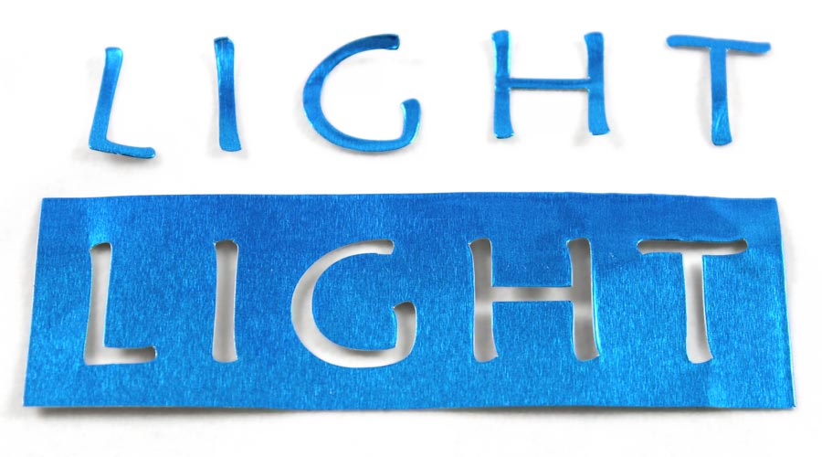 Light Frame and Reverse Metal Letters