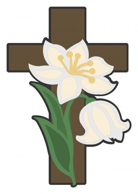 Lilies and Cross