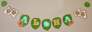 Aloha Banner from Tiki Luau on the Pazzles Party SVG and WPC cutting file CD