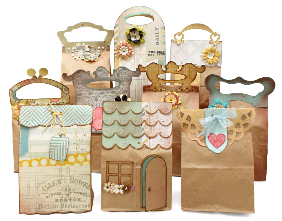 Lunch Sack Gift Bags Cutting Collection Group