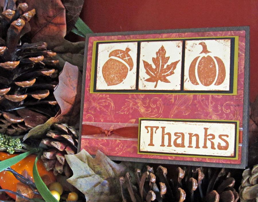 Make You Own Stamps Autumn Thanks Card
