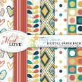 Pazzles Mod Love Digital Paper Pack with instant download