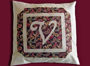 Monogram Pillow Die Cut Fabric