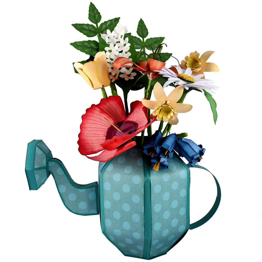 Build a bouquet lily of the valley and tulip pazzles craft room build a bouquet watering can vase reviewsmspy