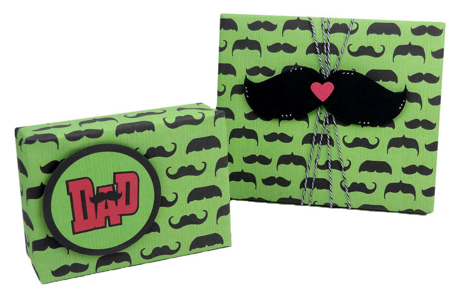 Make Your Own Moustache Wrapping Paper - Pazzles Craft Room