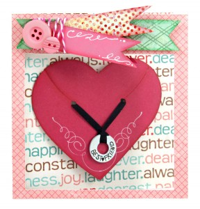 Necklace Gift Card with Window Front