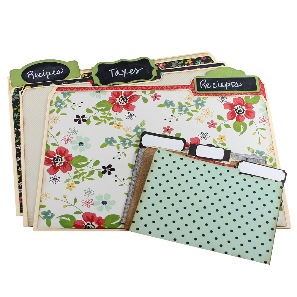 Decorative file folders pazzles craft room