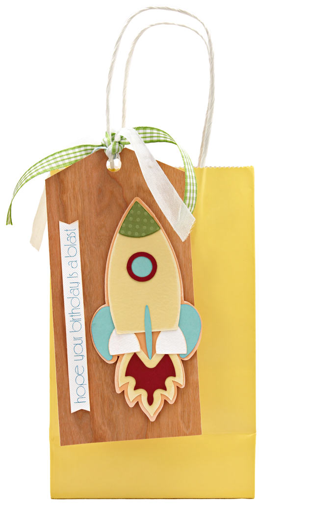 On the Move Rocket Ship Baby Birthday Gift Tag Set WPC SVG Cutting Files