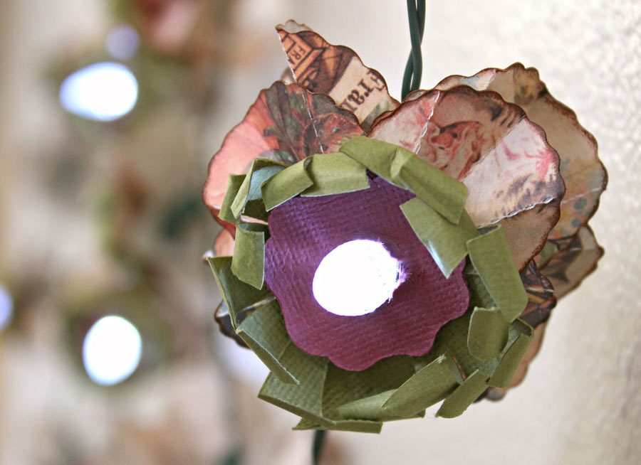 Paper Flower Light Strand Pazzles Craft Room