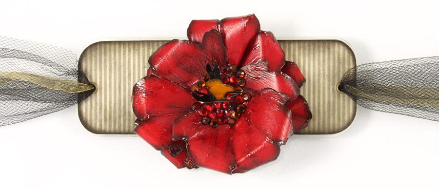 Paper Jewelry Bracelet Flower Flat
