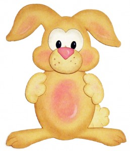 Paper Pieced and Chalked Bunny Rabbit