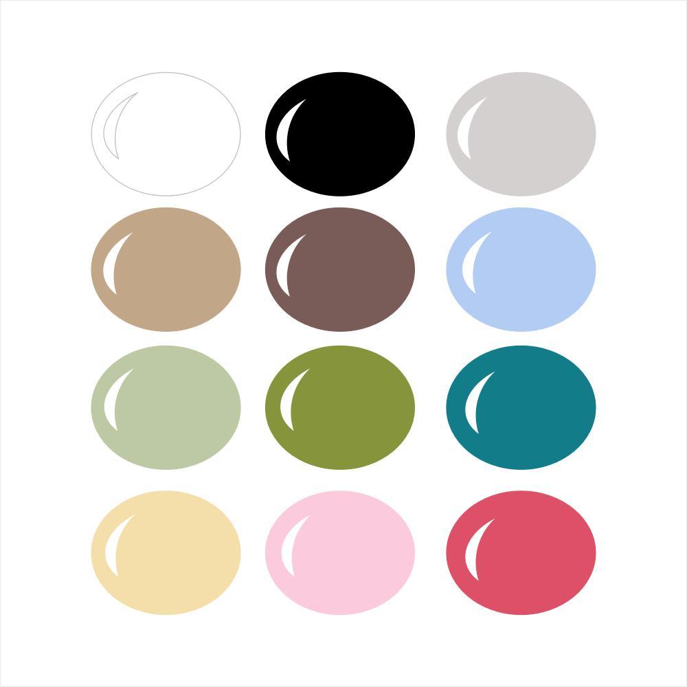 InVue Color Palette: Pazzles Wall Vinyl