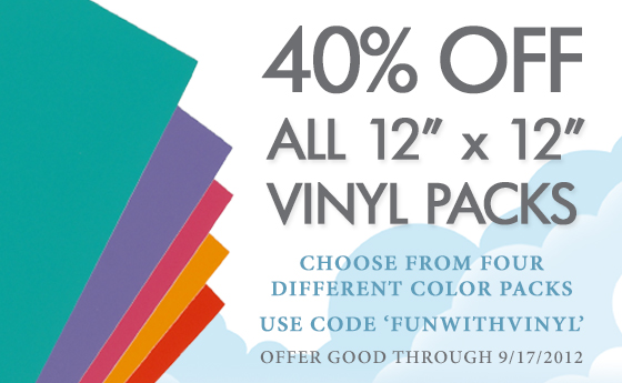 Save 40% on Pazzles Vinyl Packs now through September 17, 2012