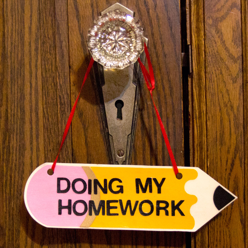 Pencil Homework Sign