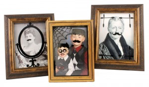 Photo-Frames-With-Mustaches-and-Vinyl-Halloween-Portrait-Makeover