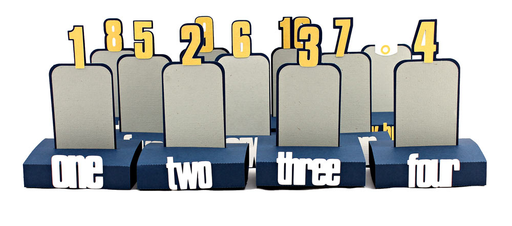 Pop-Up-Number-Stand-Card-Group