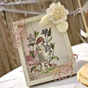 Prima and Pazzles Fairy Rhymes Embellished Distressed Photo Frame