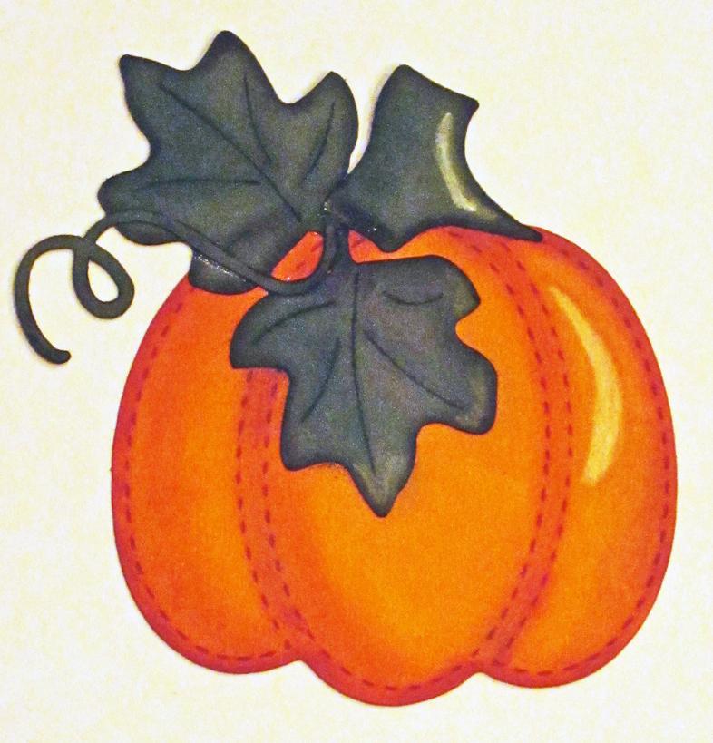 Paper Pieced and Chalked Pumpkin
