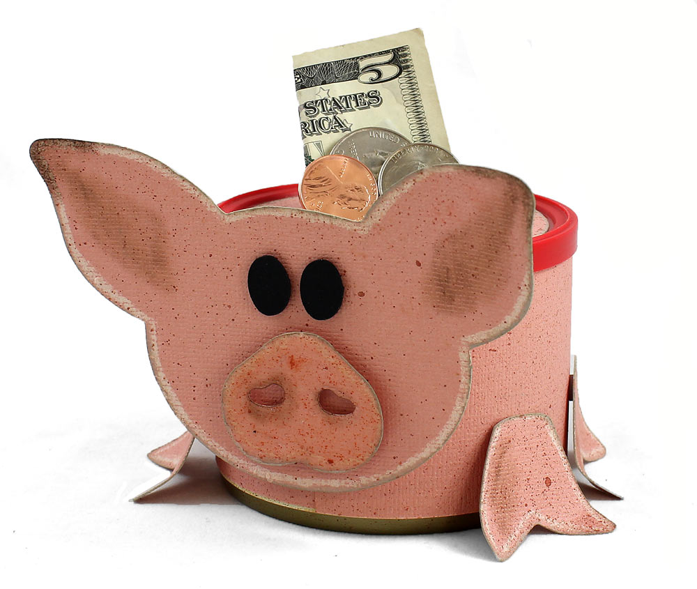 recycled can piggy bank pazzles craft room