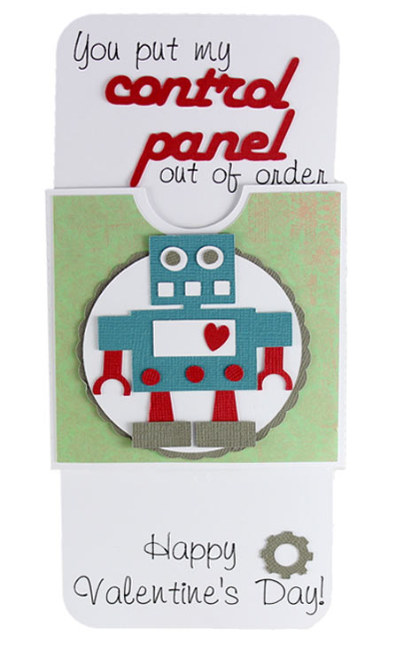 Valentine Robot Slider Card