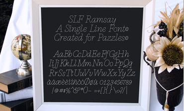 Single Line Font: Ramsay