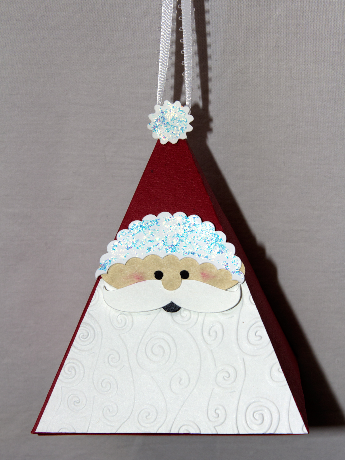 Pyramid christmas ornament - Santa Ornament