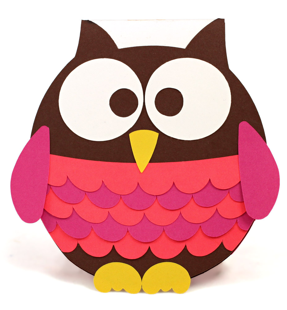 owl miss you shaped card pazzles craft room