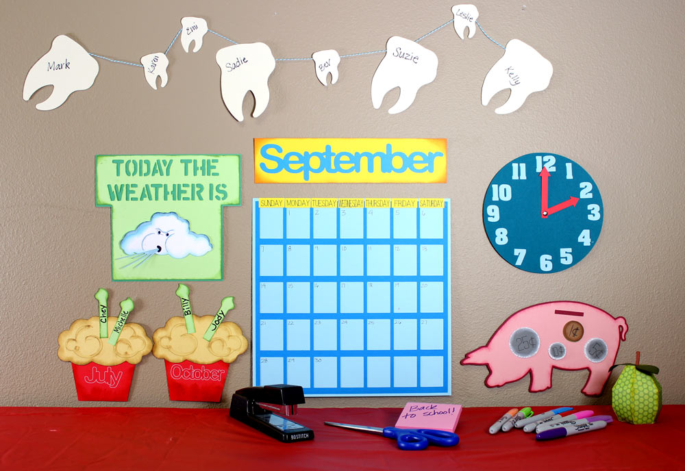 School Days Teacher Calendar Set