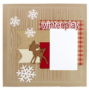 Scrapbook-Layout-Winter-Play-Snowflakes-Deer-Fawn