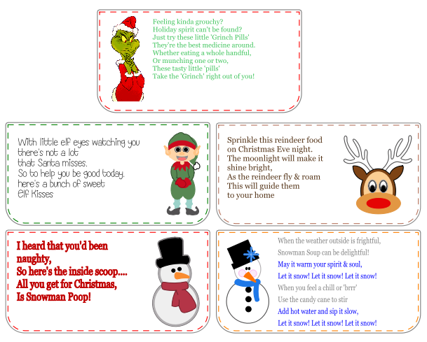 photo regarding Snowman Soup Free Printable Bag Toppers referred to as Address Bag Toppers