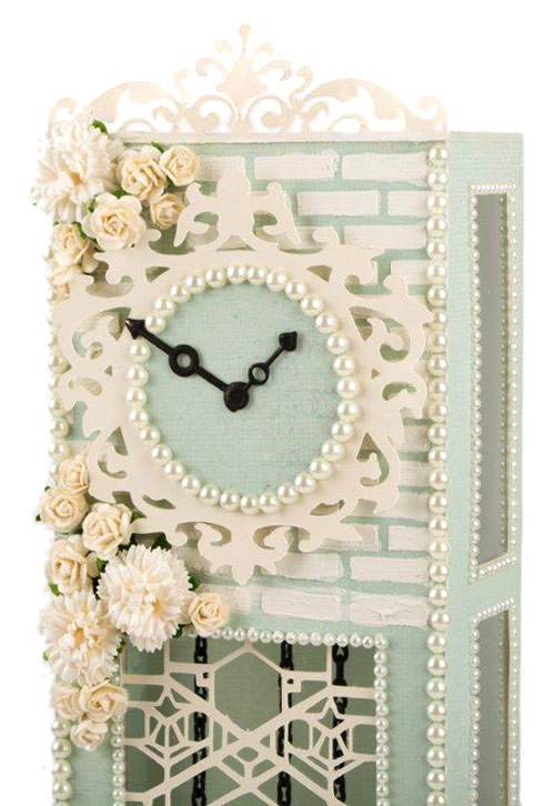 Shabby Chic Grandfather Clock Detail by Tara Brown