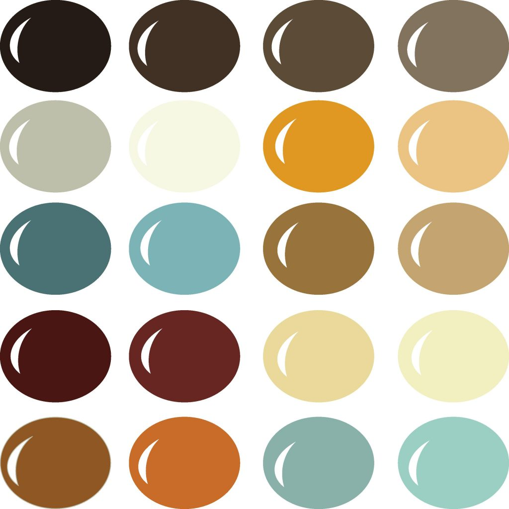 Pazzles Sienna Sunset color palette with instant download.