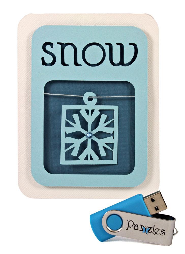 Snow Card Snowflake Charm Pazzles USB 2GB