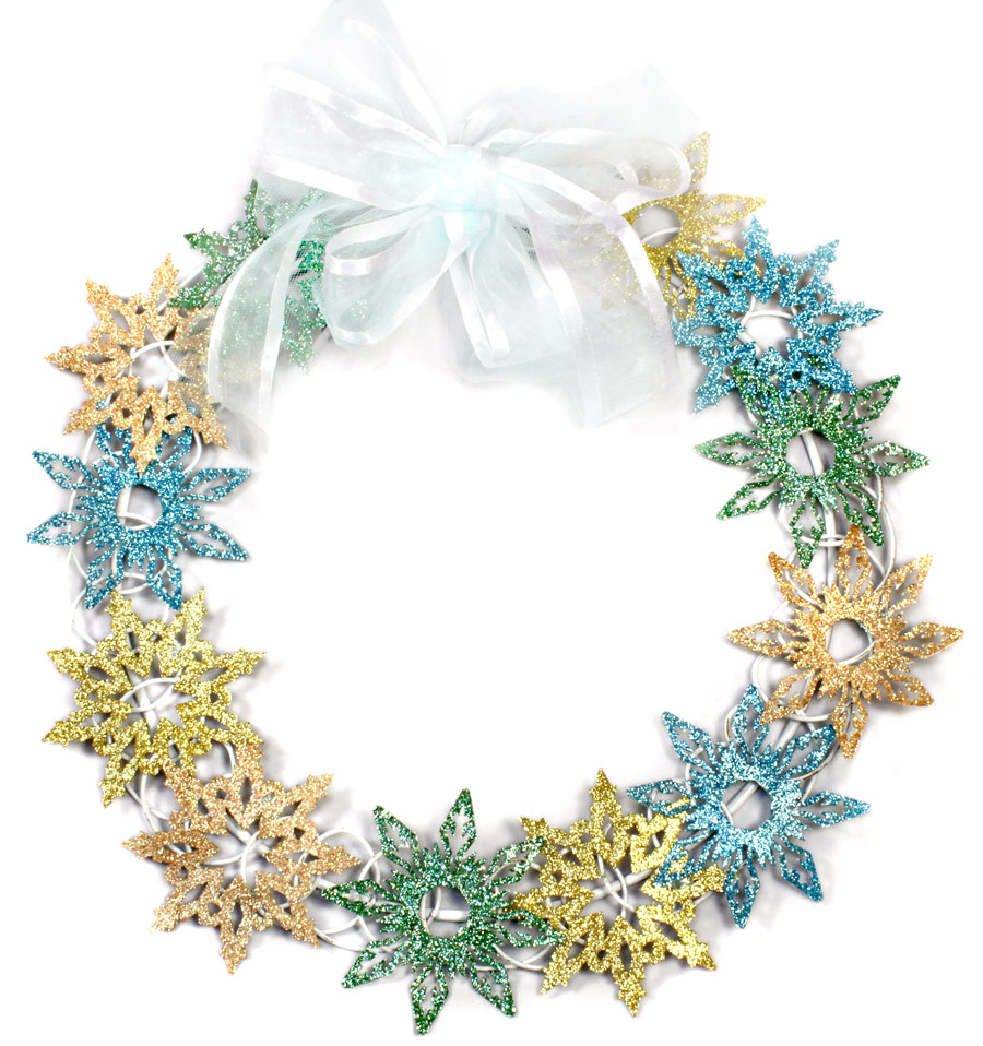 Snowflake Wreath P K Glitz Glitter Wheel Spring 2 and WonderFilm