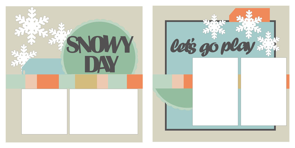 Snowy Day Scrapbook Layout Sketch
