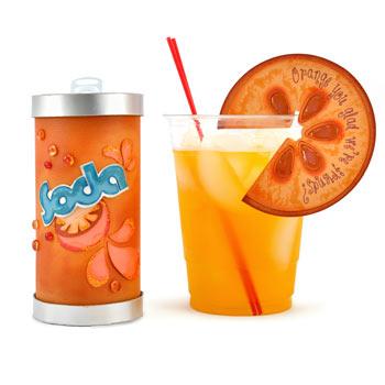 Soda Can Box and Orange Slice Drink Charm