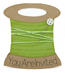 Spool of Thread Shaped Card Invitation