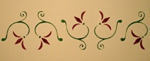 Stencil and Paint Border
