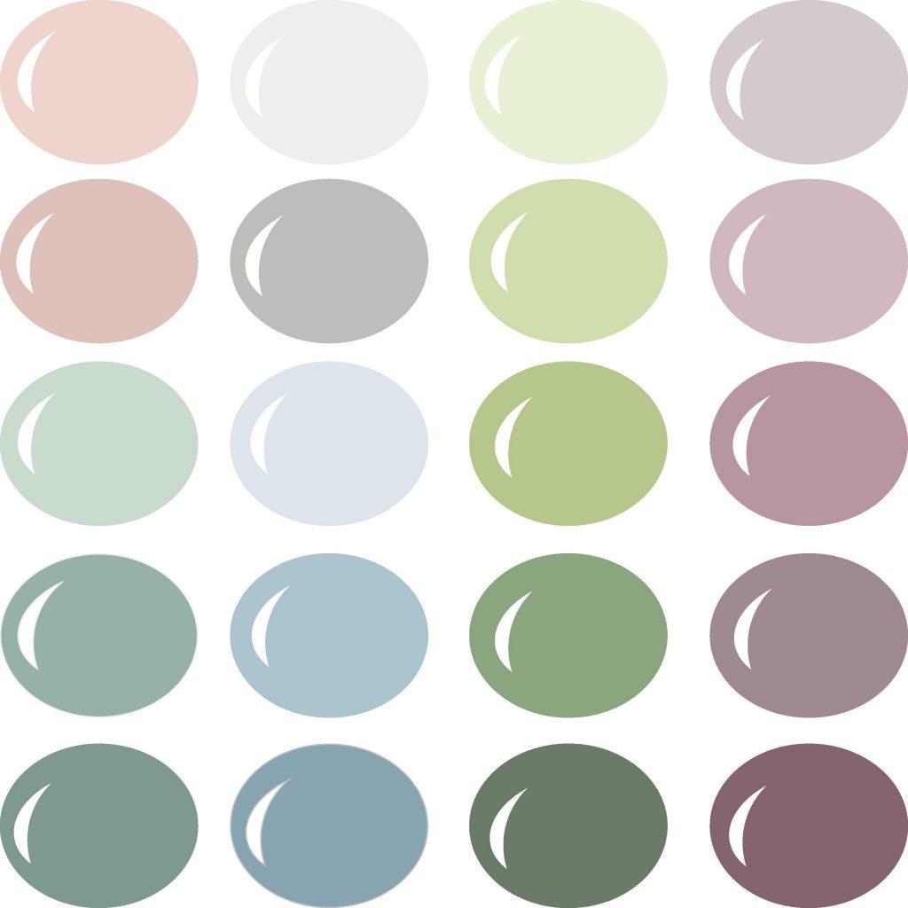 Pazzles InVue Succulent Color Palette with instant download