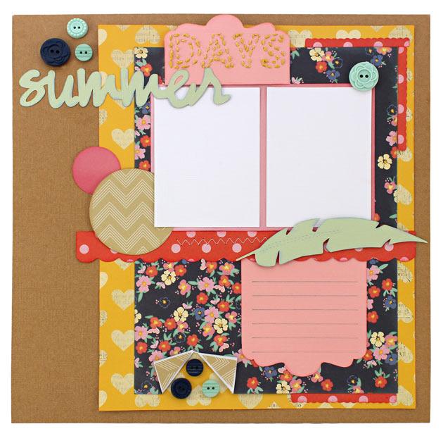 Summer-Days-Scrapbook-Layout