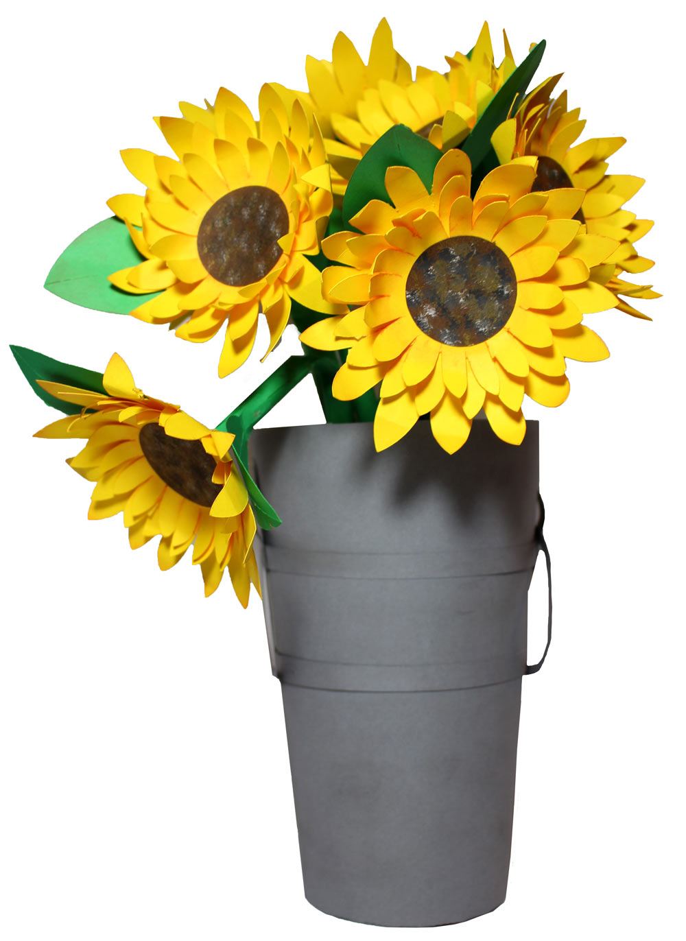 Paper Sunflower Bouquet With Vase
